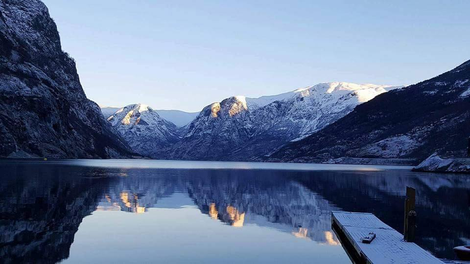 the fjords in the Winter, norway in the winter