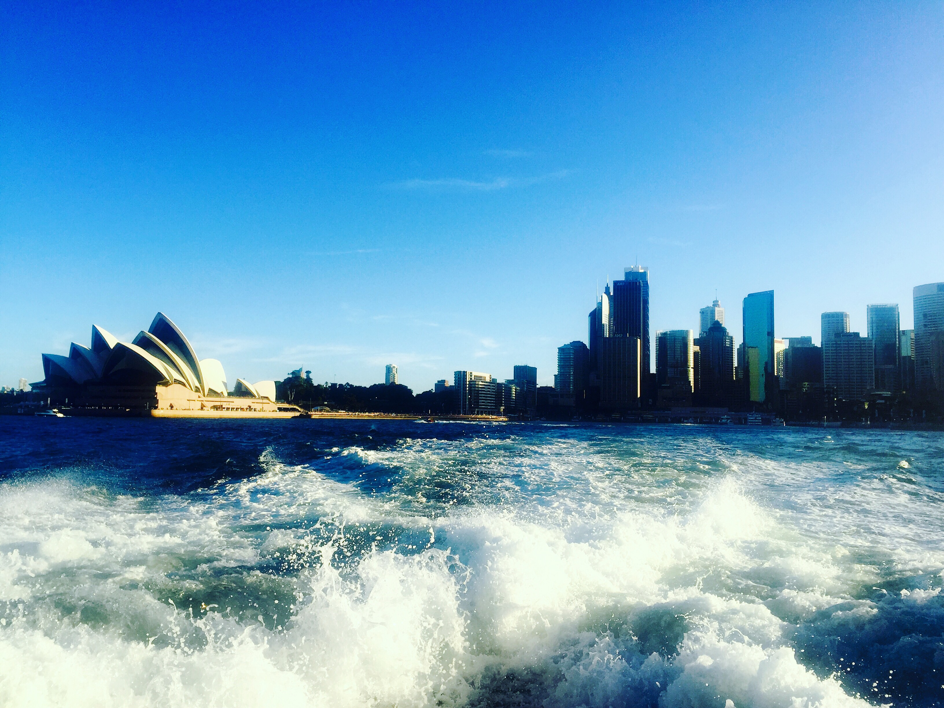 Sydney opera house view from boat
