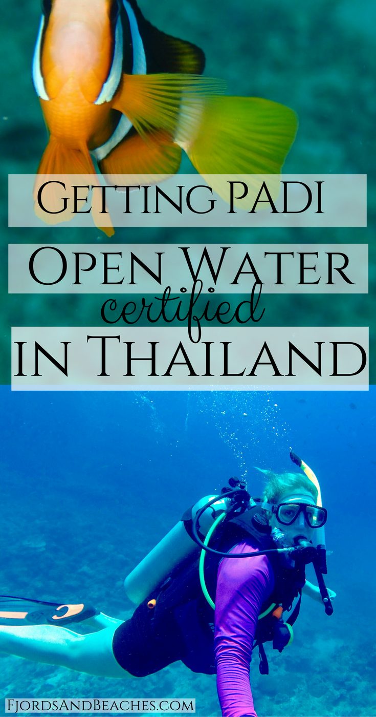 Getting PADI Open Water Certified in Thailand Diving in Thailand