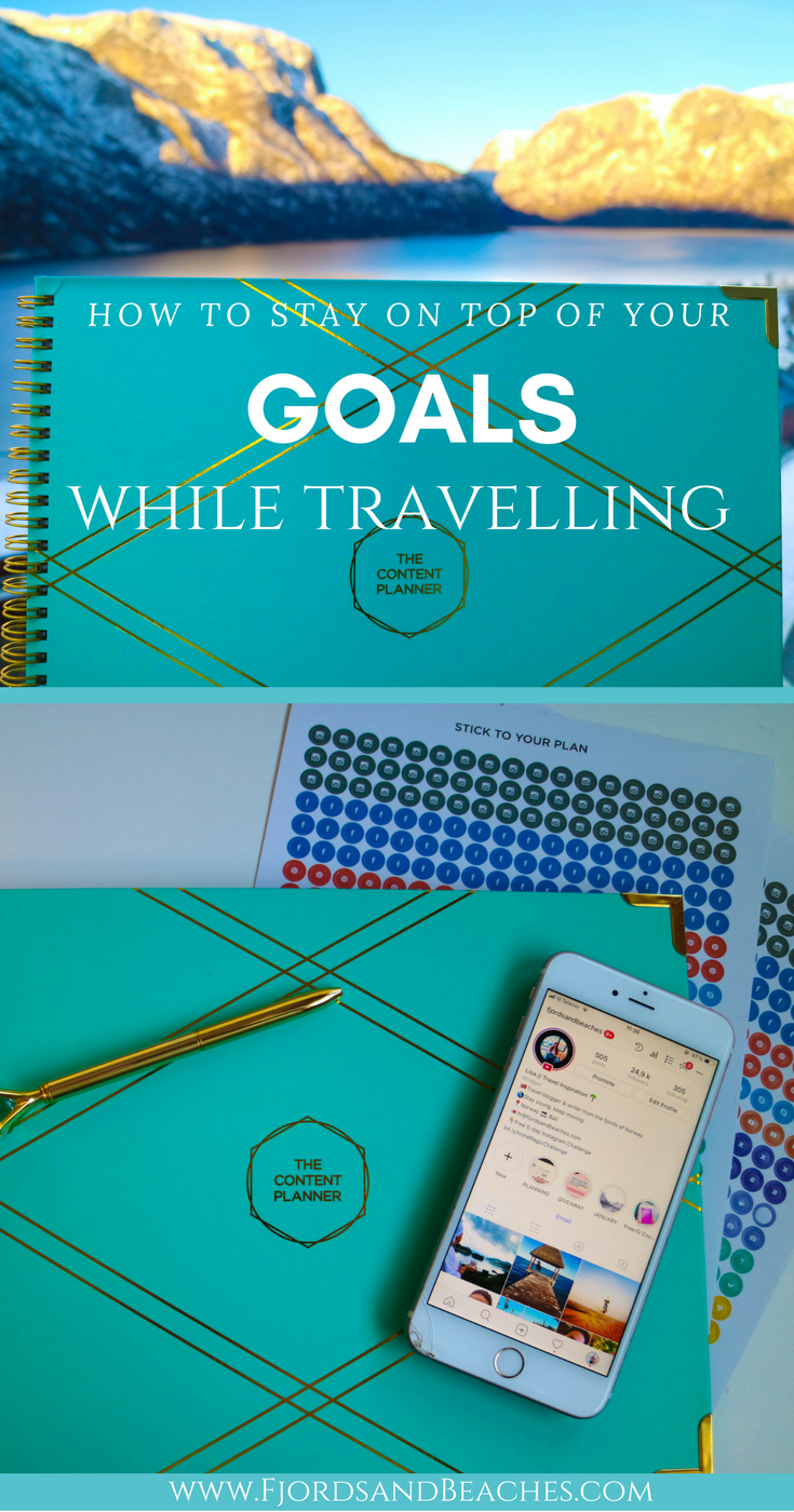Smart goal setting and planning while travelling, planning out your smart goals, smart goal planning, the best content planner for bloggers, planners for influencers and instagram growth