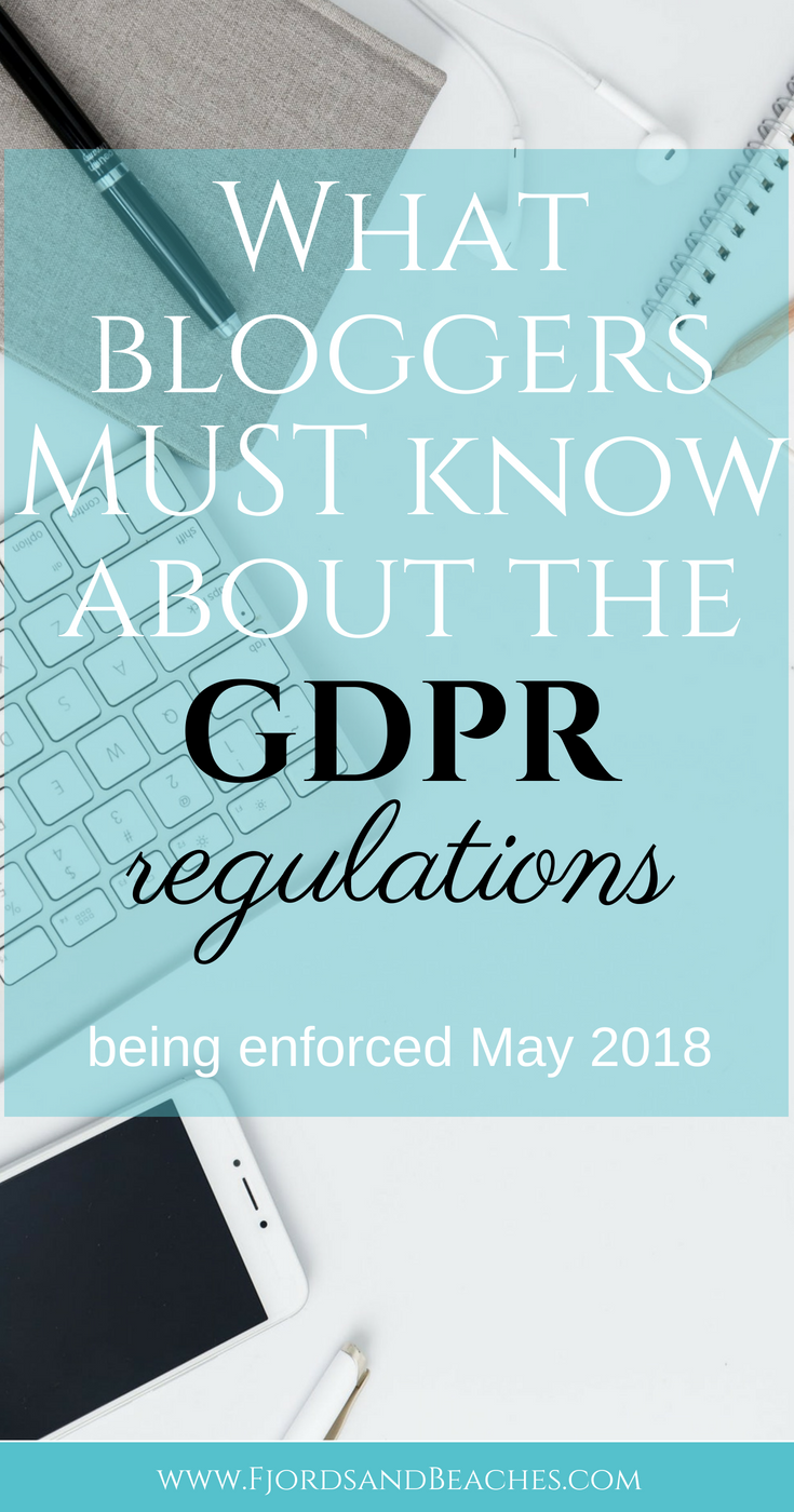 Compliance with the GDPR for bloggers, how to comply with the GDPR as a blogger, #GDPR #Bloggertips