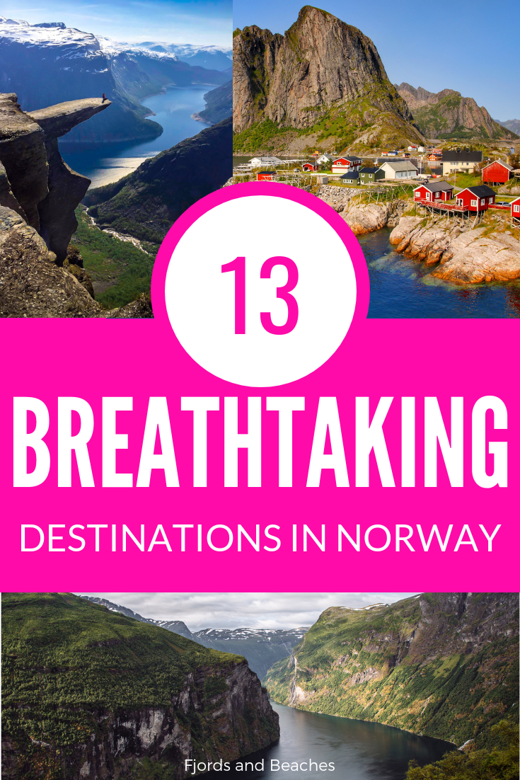 The most beautiful places to see and visit in Norway, as told by travel bloggers who have visited Norway. Where to go in Norway, places in Norway. #VisitNorway #Norway #Travel #BeautifulDestinations