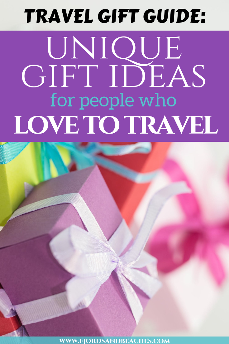 unique travel gift ideas for anyone in your life who loves travelling. Travel presents for the travel lover, for christmas, birthdays or any other occasion. #travelgifts #travelpresents #Travel
