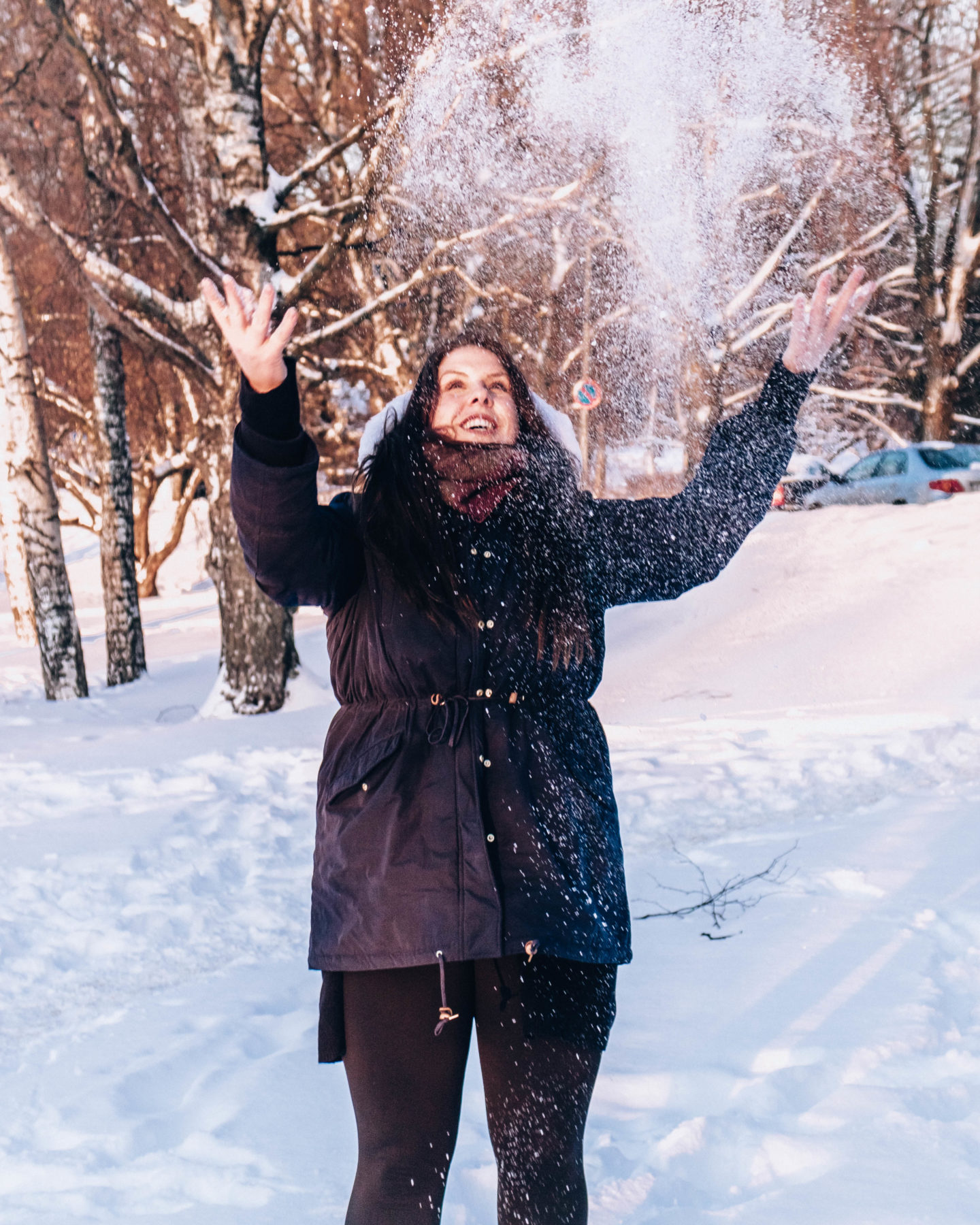 things to do in helsinki in the winter - play with snow!