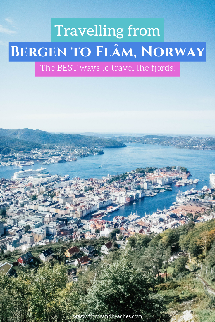 The complete guide to how to get from Bergen to Flåm, and back from Flåm to Bergen. These are all the best ways to travel the fjords of Norway! #VisitNorway #Bergen #Norway