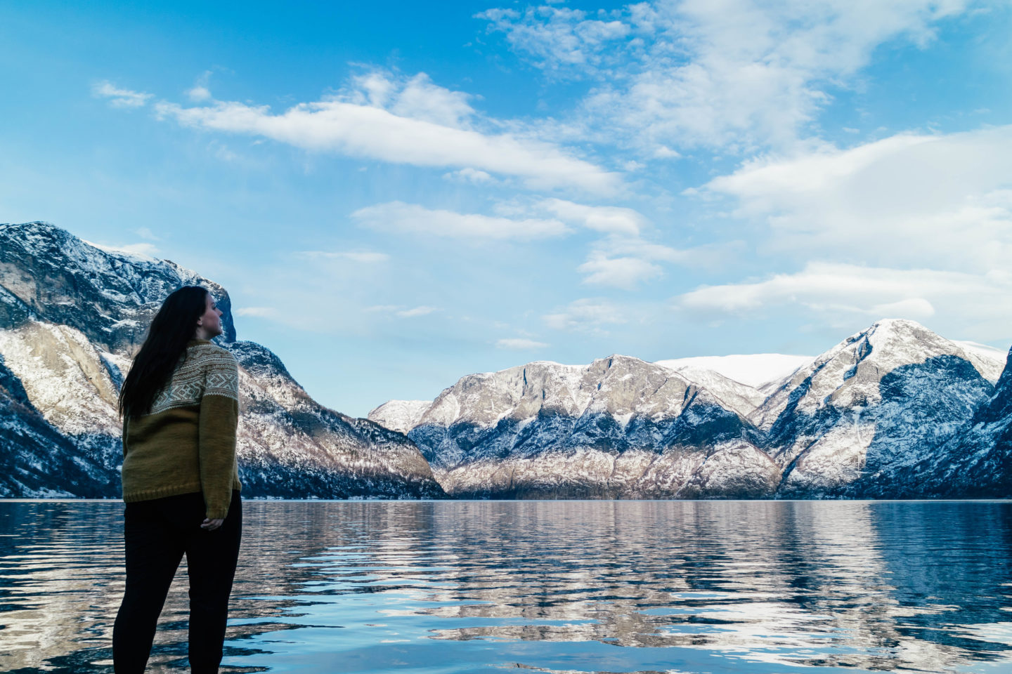 Travelling from flam to bergen - the aurlandsfjord