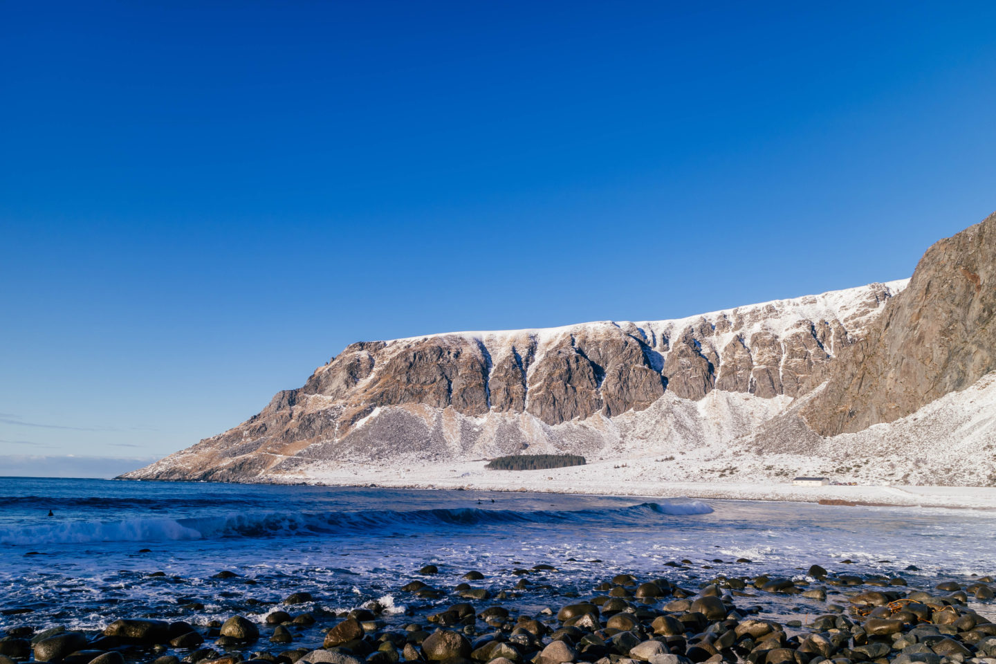 Visit Lofoten to see the arctic surfers