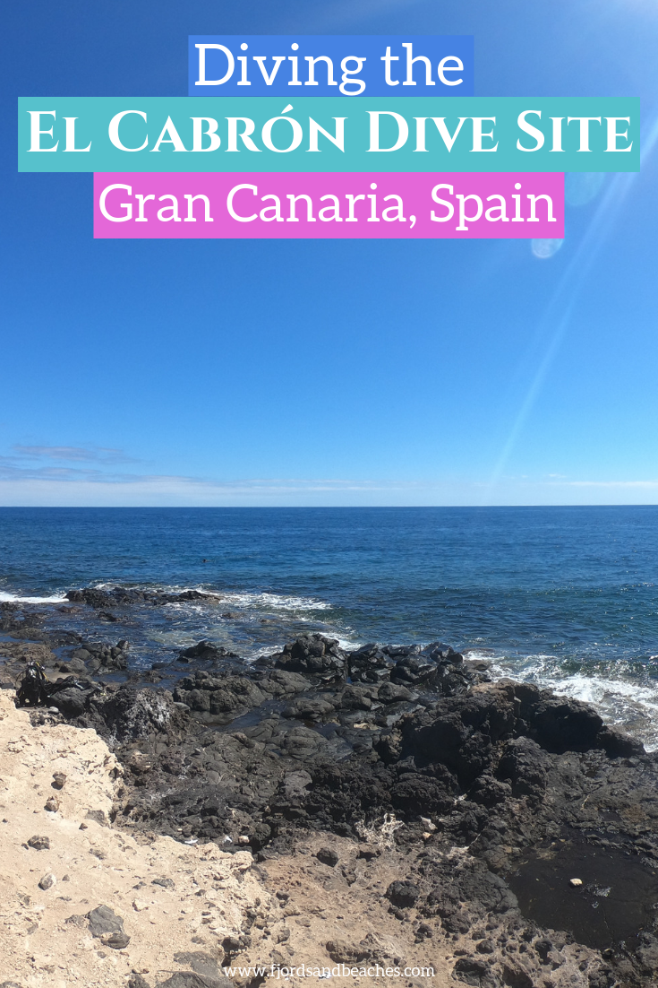 Curious about Gran Canaria diving? Scuba diving Gran Canaria, Spain is a great experience, and I'm sharing mine in this post! My adventures diving Gran Canaria took me to the El Cabron dive site, and it was incredible! #GranCanaria #Scubadiving #Diving #VisitSpain #Spain diving in gran canaria, scuba diving playa del ingles, diving maspalomas