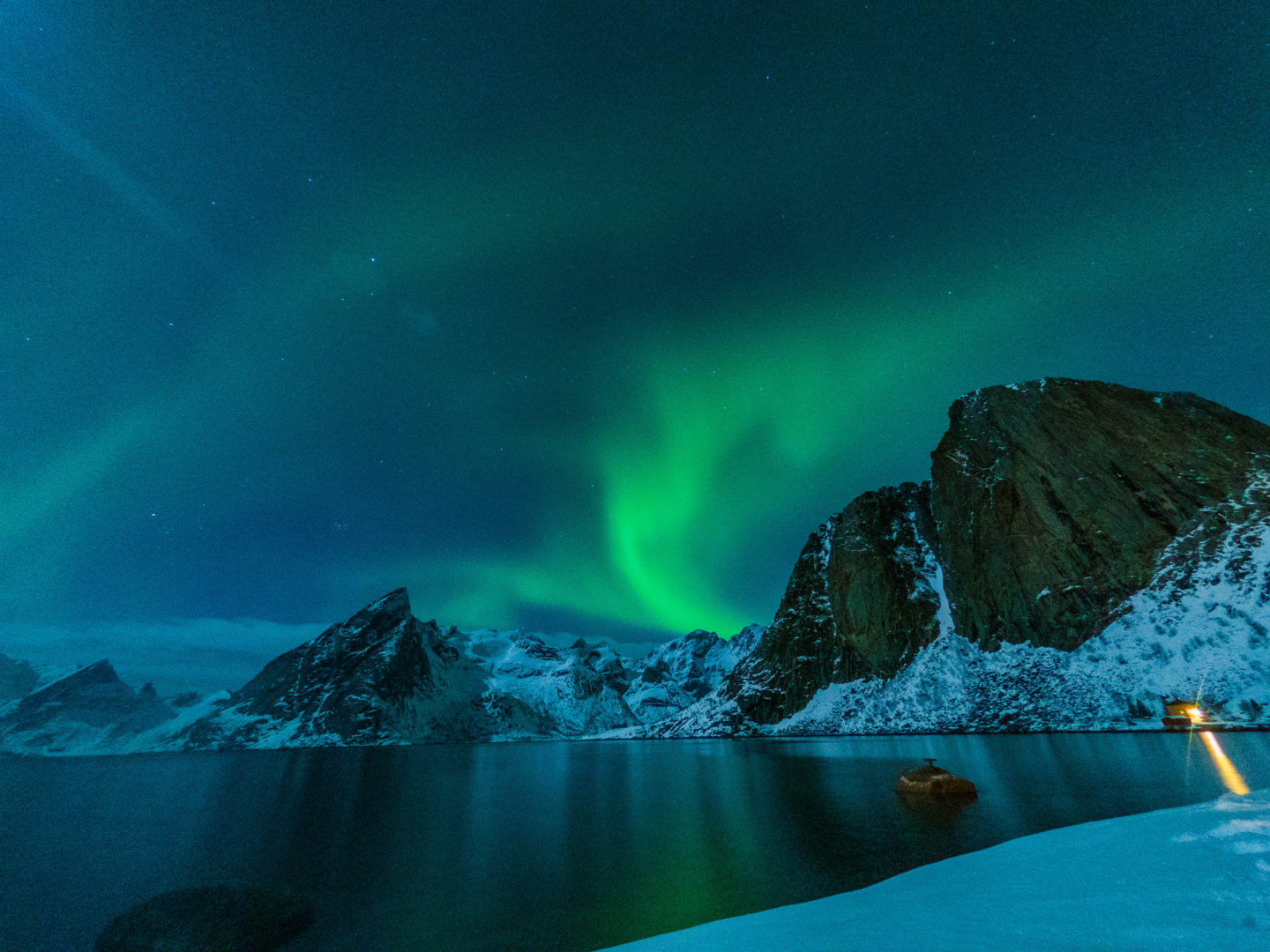 GoPro night settings for shooting the northern lights