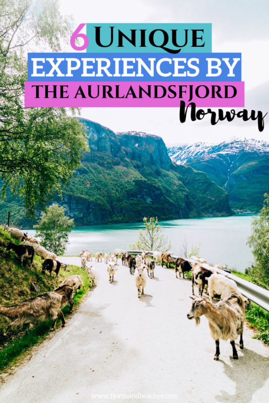 Unique and sustainable experiences in Aurland, Norway. This is a guide to Aurland, along the Aurlandsfjord, and just a short drive from the popular Flåm, Norway! If you are visiting the fjords, don't miss this post! #visitNorway #norway