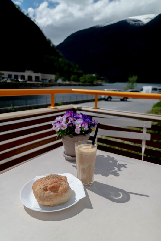 Marianne bakery along the aurlandsfjord