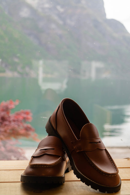The aurland shoe original penny loafer, brown classic shoes