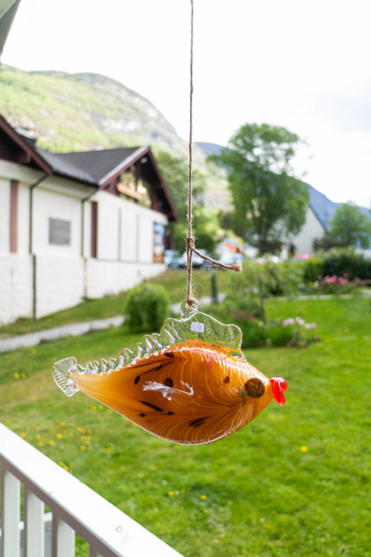 Merete rein glass blowing by the aurland fjord