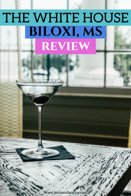 A review of the White House Hotel Biloxi, MS. From the martinis to the classic interior, this is such a great hotel. Read all about my experience in this post! #Travel #HotelReview