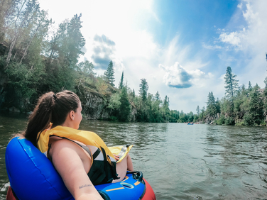 Floating on the pinawa channel