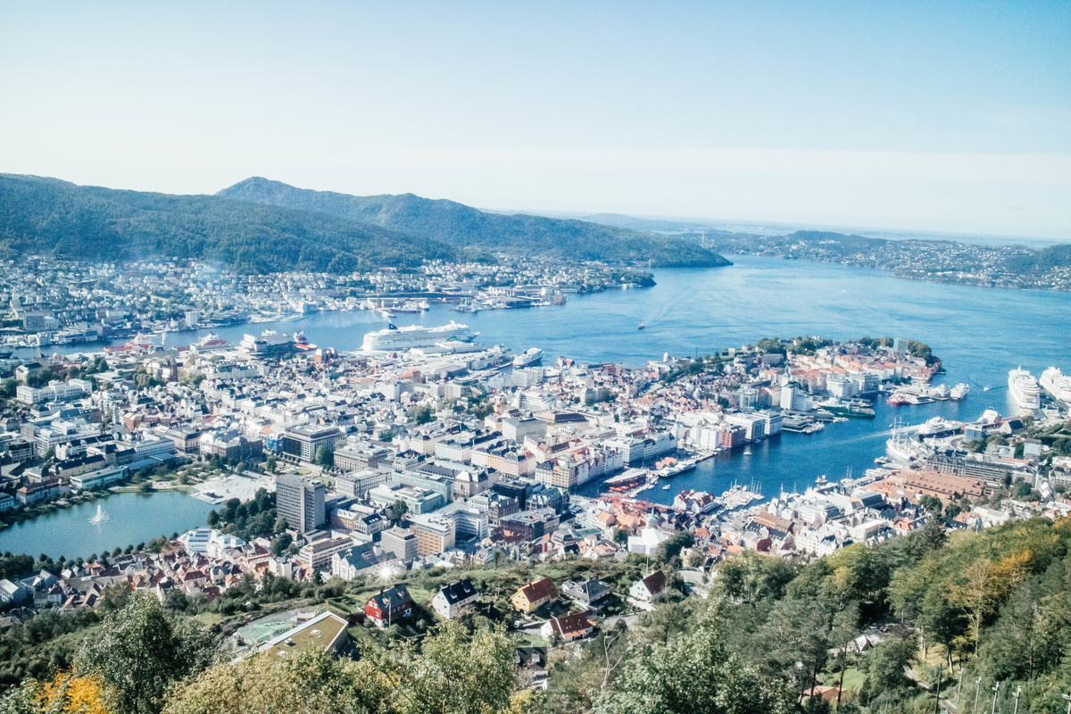 guide from bergen airport to city centre, bergen norway