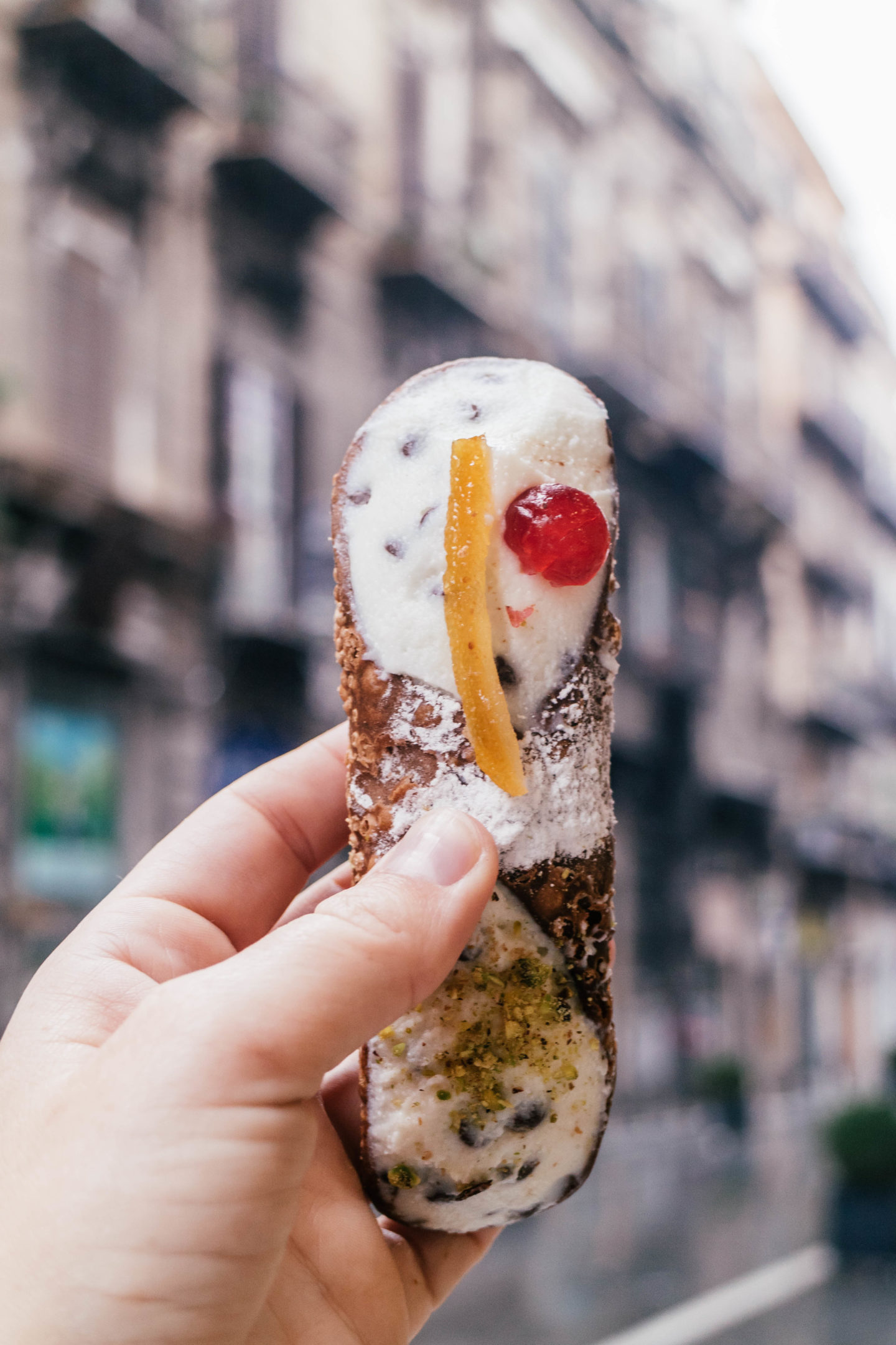 cannoli in palermo, italy