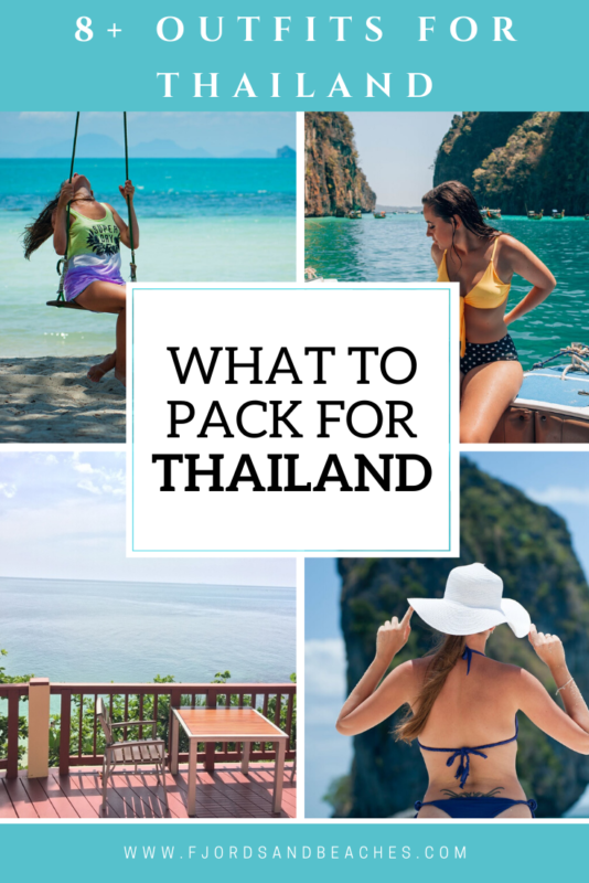 Thailand Packing List with all the outfits you need to take to Thailand! Don't miss this #PackingGuide for your #Thailand trip!