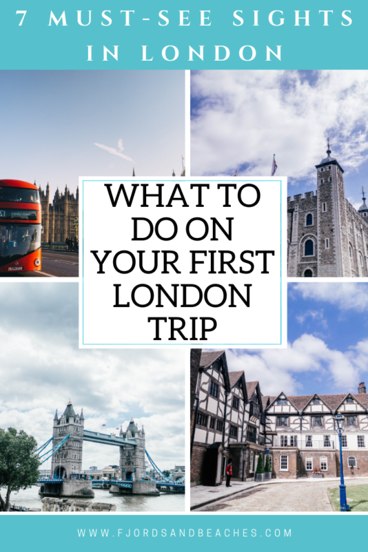 What to do on your first London trip. These are sights you absolutely should not miss in #London!