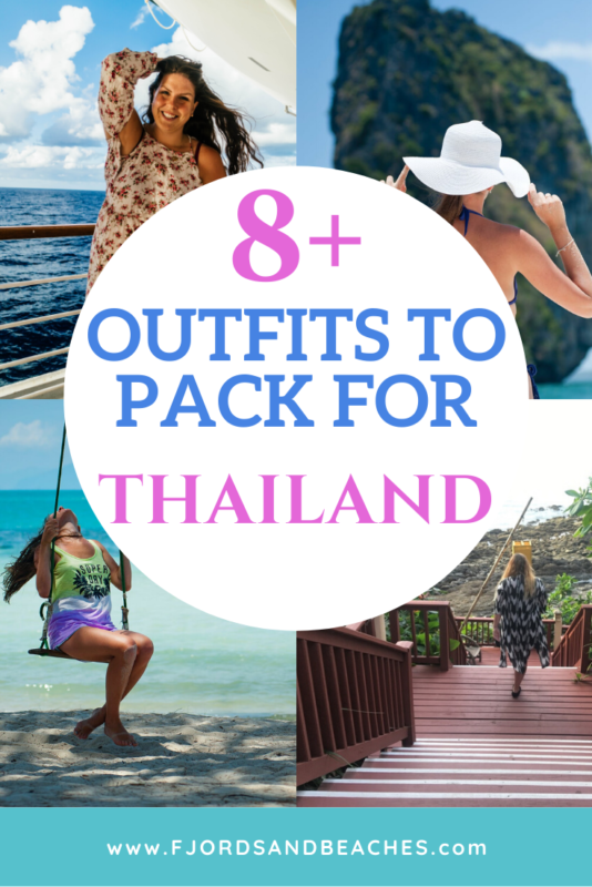 8 Outfits for Thailand to include in your suitcase! These outfits must go on your packing list for Thailand. #Thailand #Travel #Packing
