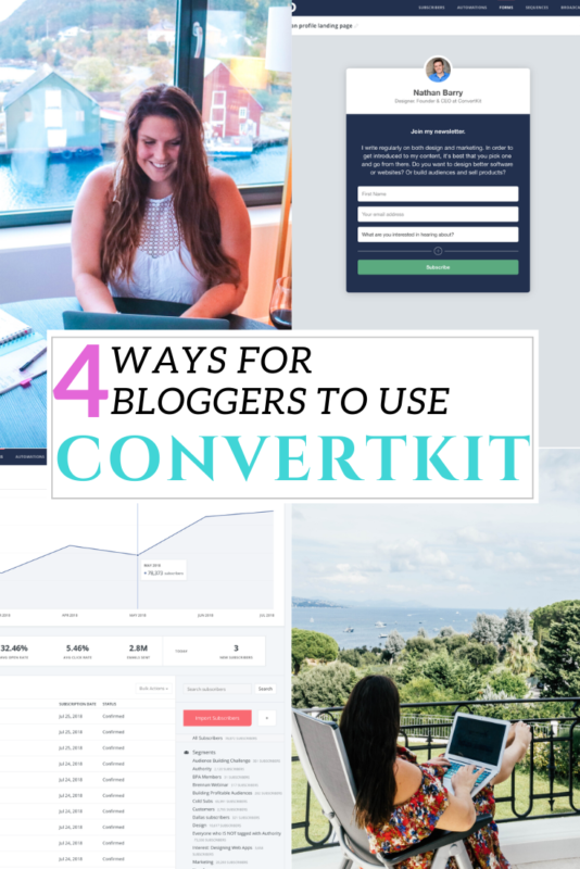 A guide to using ConvertKit for bloggers. 4 ways to send Convertkit emails, take advantage of the functions and maximise your efforts (and earnings). #Blogger #Blogging #ConvertKit