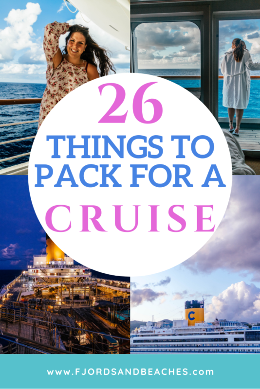 This list of cruise necessities and essentials covers everything you need when packing for a cruise. #Cruise #Travel