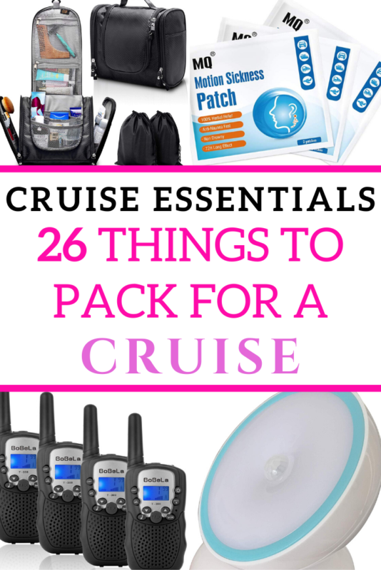 List of all the essentials you need when packing for a cruise, written by someone who forgot half of it and wishes she didn't! #Cruise #Travel