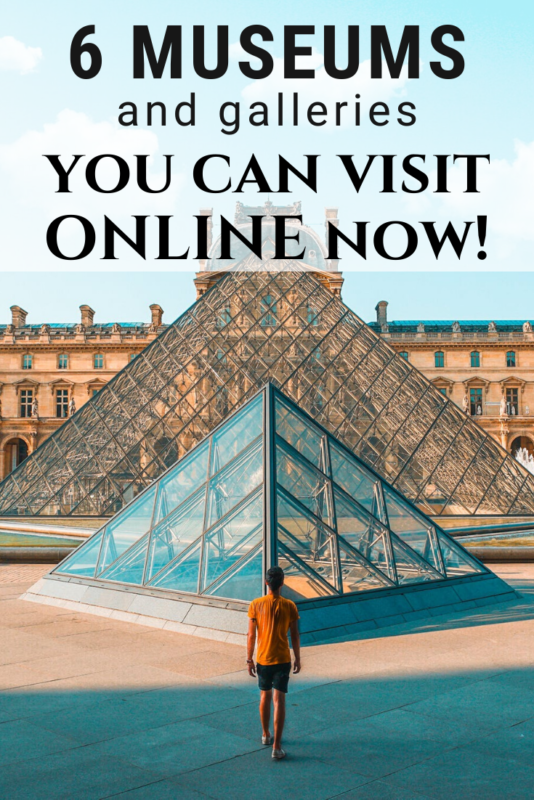 6 online galleries and museums you can visit online! Quarantine and social distancing shouldn't keep you from exploring the arts! #Art #Museums