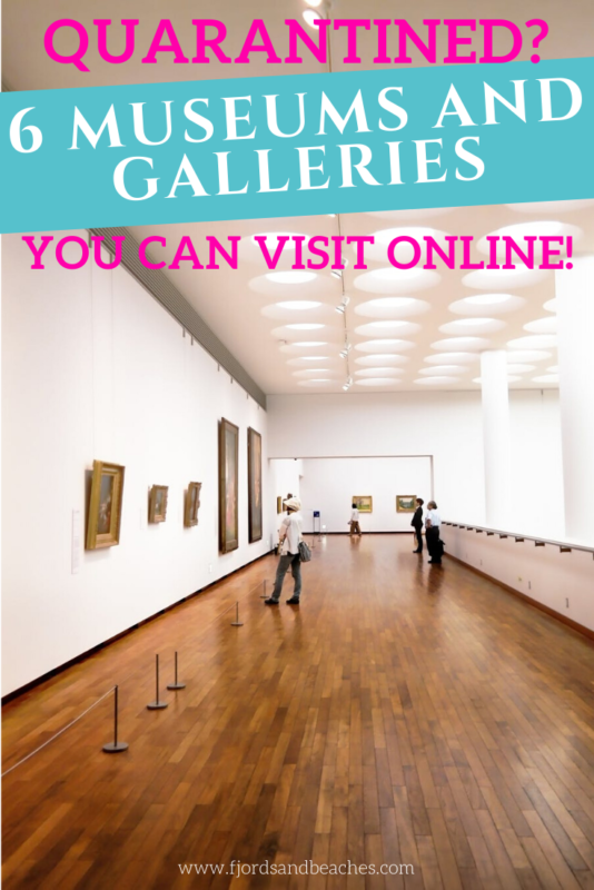 """Did you know that many museums and galleries have made their art available online? Here's 6 famous museums you can """"visit"""" right now!"""