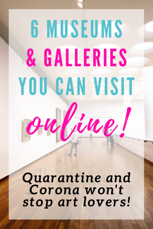 You can visit these 6 galleries and museums from your own living room, by taking their virtual tours! Who knew the Louvre offered this for free? #Art