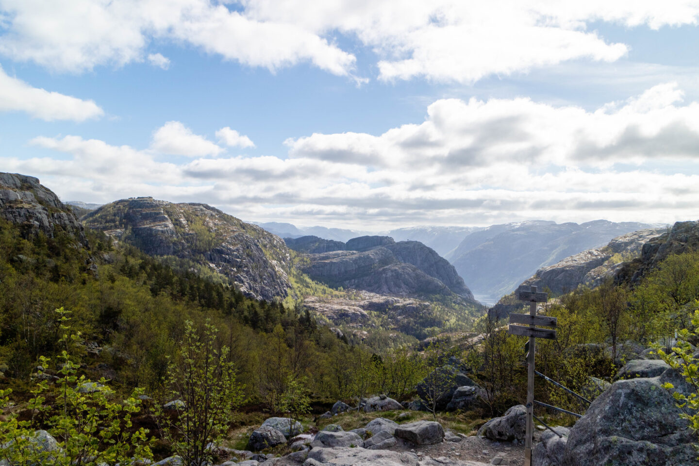 view during the pulpit rock hike in norway