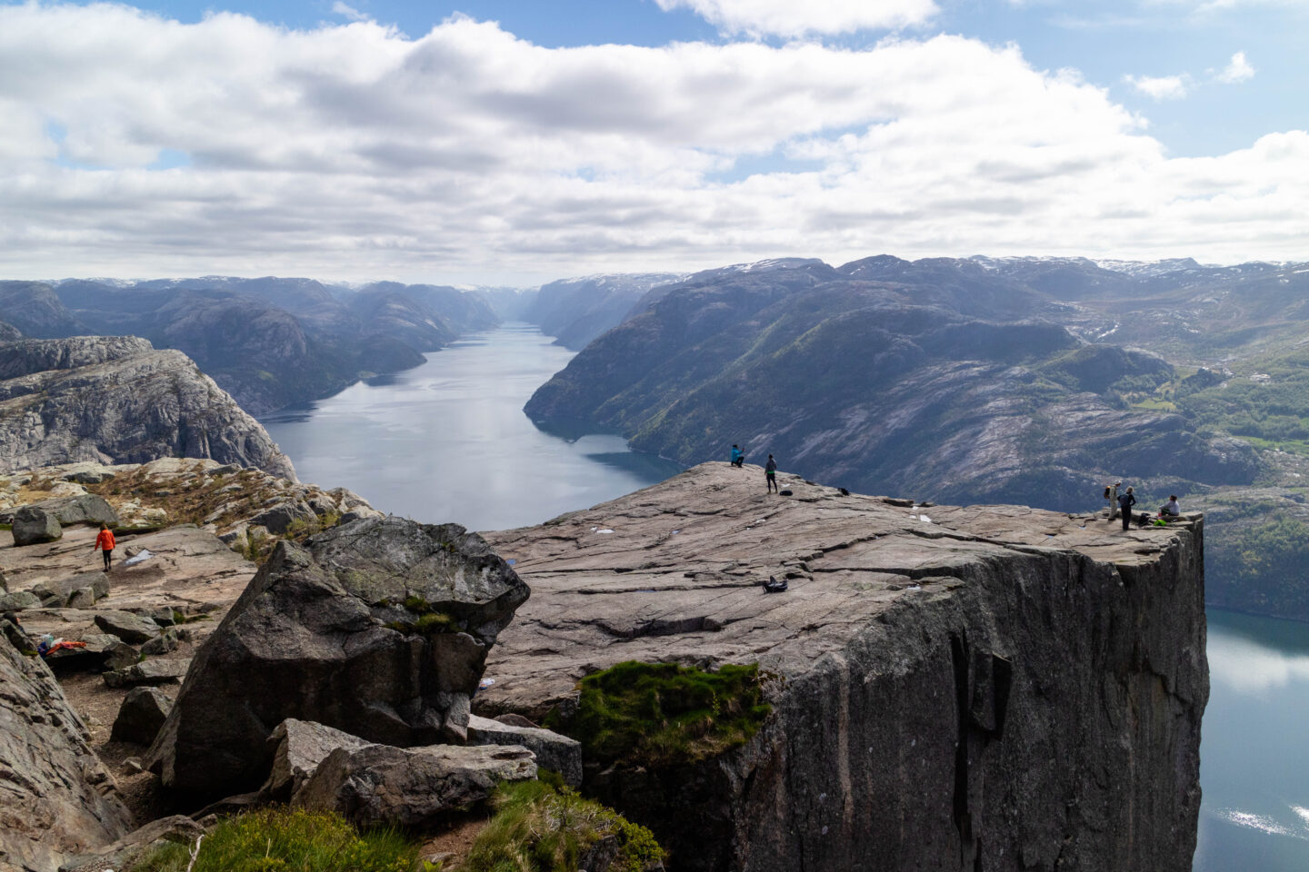 hiking pulpit rock, Norway view